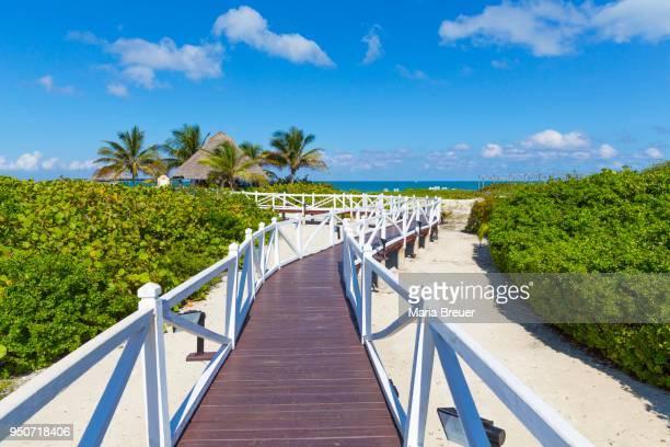 Jetty to the beach, Hotel Melia Las Dunas, island of Cayo Santa Maria, Caribbean, Cuba