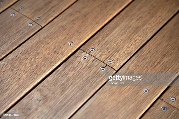 Jetty wood planks
