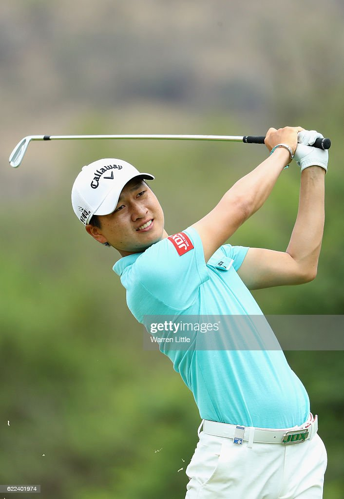 Jeunghun Wang of Korea in action during the second round of the Nedbank Golf Challenge at the Gary Player CC on November 11, 2016 in Sun City, South Africa.