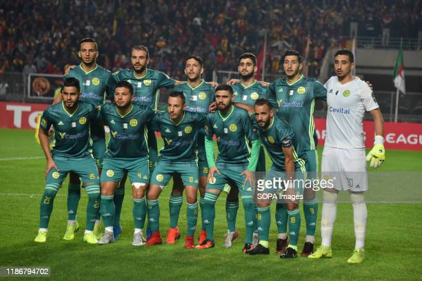 Jeunnesse Sportive of Kabylie line up during the CAF Champions League 2019 - 20 football match between Esperance sportive tunisia and Jeunesse...