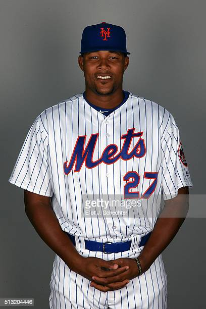 Jeurys Familia of the New York Mets poses during Photo Day on Tuesday March 1 2016 at Tradition Field in Port St Lucie Florida