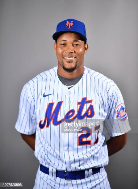 Jeurys Familia of the New York Mets poses for a photo during Photo Day at Clover Park on February 20, 2020 in Port St. Lucie, Florida.