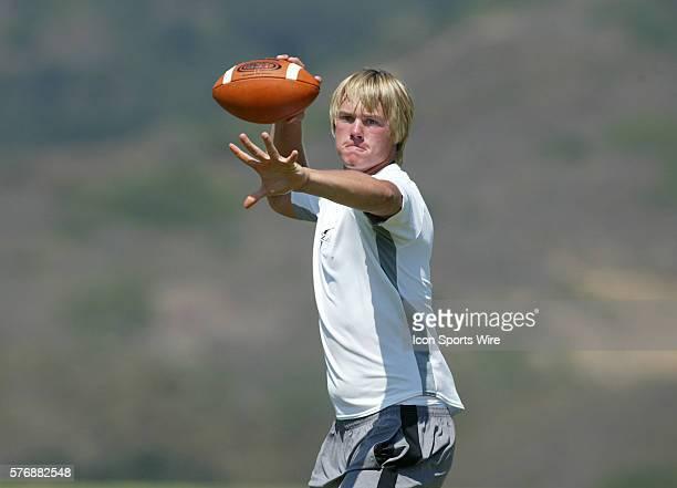 Jevan Snead at The EA Elite 11 quarterback camp at SOKA University in Aliso Viejo California