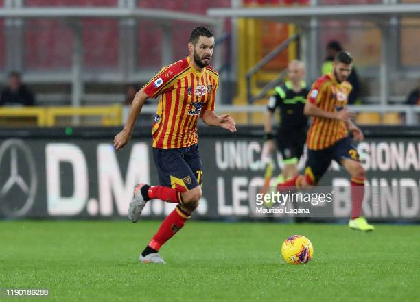 Jevhen Shakhov of Lecce during the Serie A match between US Lecce and Cagliari Calcio at Stadio Via del Mare on November 25 2019 in Lecce Italy