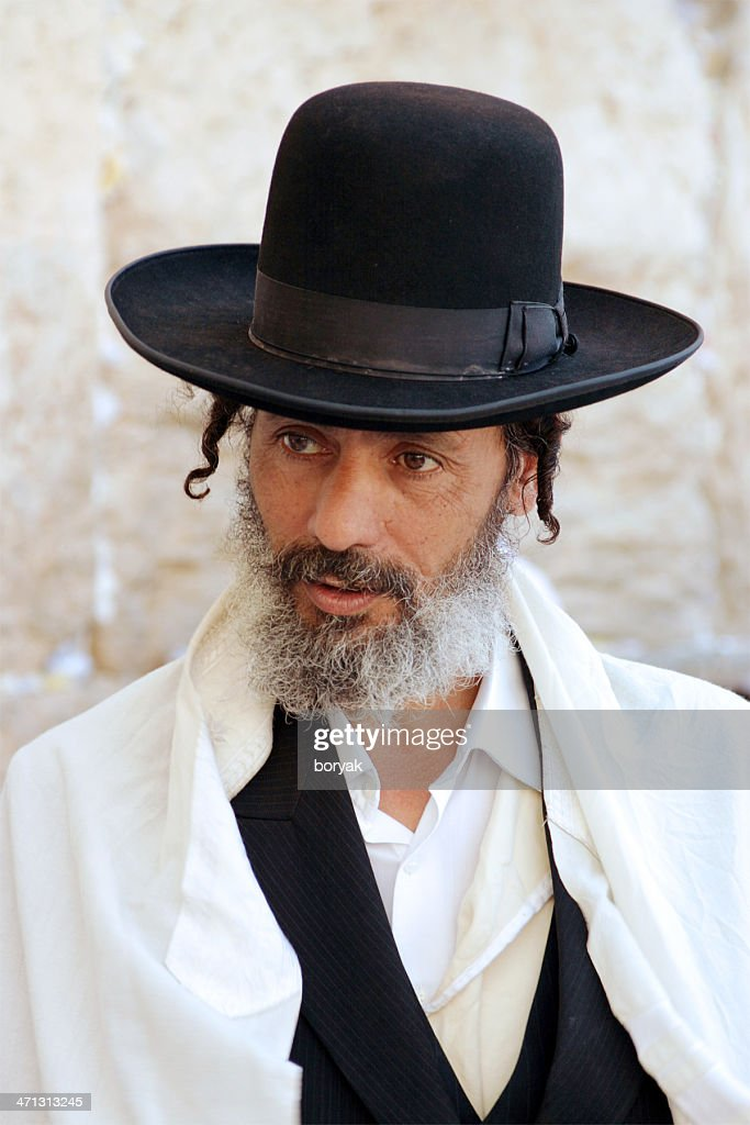 Jew at the Western Wall, Jerusalem, Israel : Stock Photo