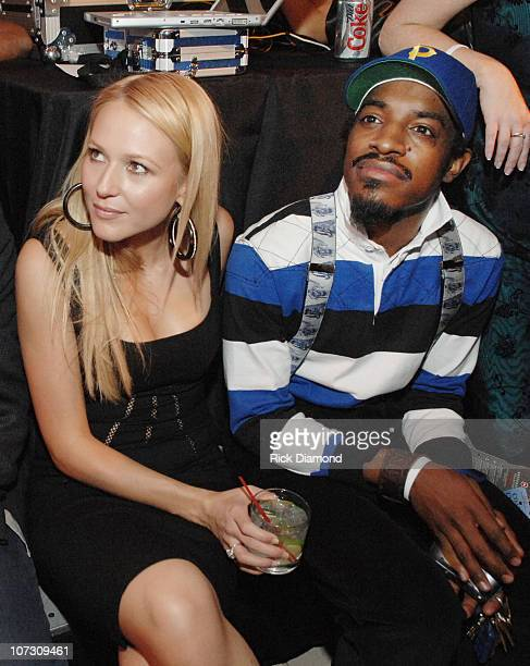 Jewel and Andre 3000 Benjamin during Sir Richard Branson CoHosts the Sara Blakely Foundation Give a Damn Party Inside at Macy's Building in Atlanta...