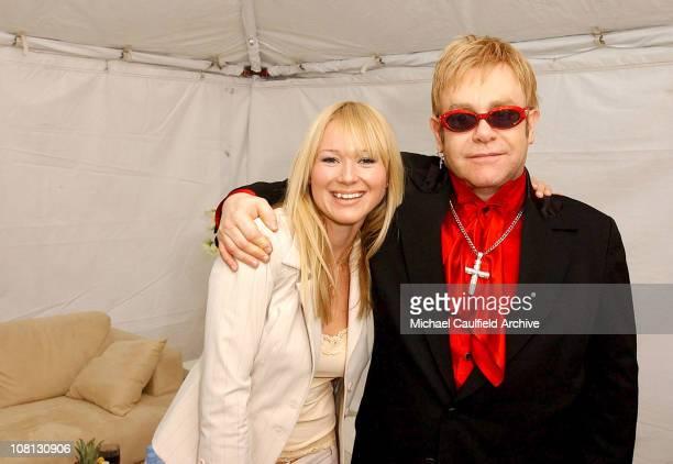 Jewel and Elton John during Best Buy Hosts Elton John Dream Ticket Launch Inside at Caesars Palace Hotel and Casino Resort in Las Vegas in Las Vegas...