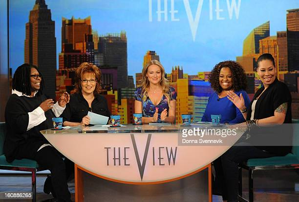 THE VIEW Jewel and Whoopii's daughter Alexandrea Martin are guest cohosts on 'THE VIEW' 2/5/13 airing on the ABC Television Network WHOOPI