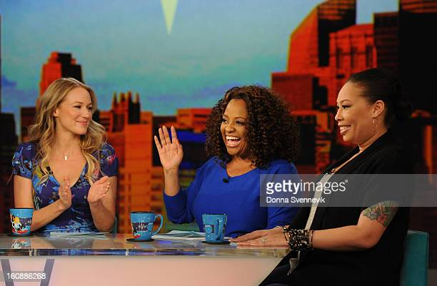 THE VIEW Jewel and Whoopii's daughter Alexandrea Martin are guest cohosts on THE VIEW 2/5/13 airing on the ABC Television Network JEWEL SHERRI