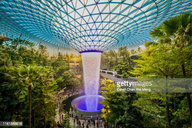 jewel changi airport - singapore - changi airport stock pictures, royalty-free photos & images