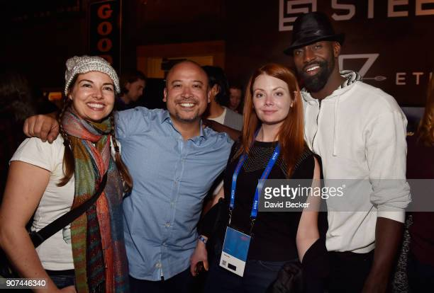 Jewel Greenberg Jason Sordia actress Hailey Giles and producer Lanre Idewu attend Steelhouse and Eternal Front presents Beyond the Front Lines during...