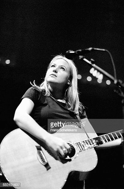 Jewel, guitar and vocals, performs at the Paradiso on novdember 9th 1997 in Amsterdam, Netherlands.