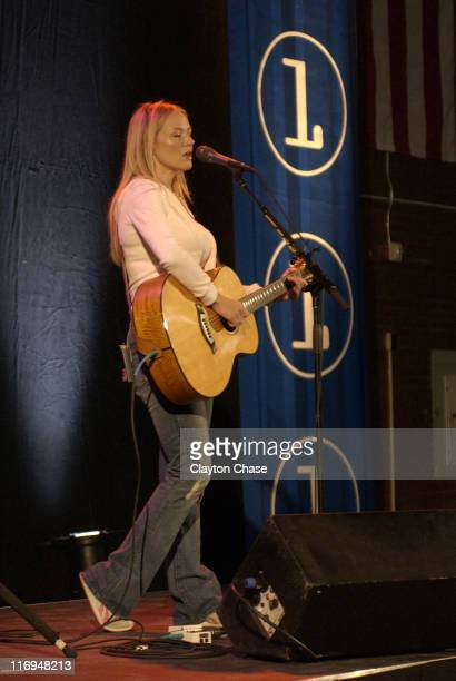 Jewel in Channel One benefit concert during Jewel special appearance and Channel One benefit concert at Lehi High School in Lehi Utah United States