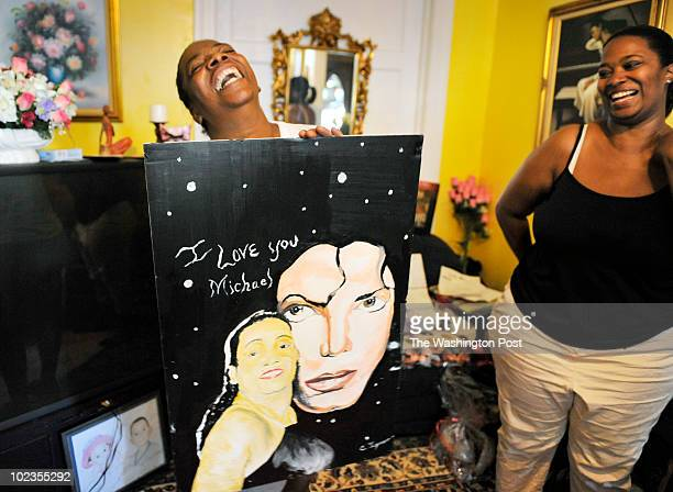 Jewel LewisHall left was Michael Jackson's biggest fan and for the anniversary of his death is transforming the front of her house into a shrine on...