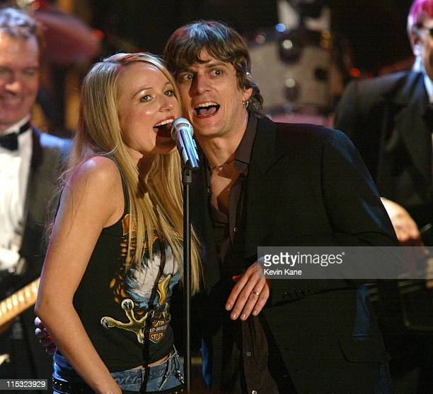 Jewel Rob Thomas of Matchbox 20 during The 17th Annual Rock and Roll Hall of Fame Induction Ceremony Show at WaldorfAstoria in New York New York...