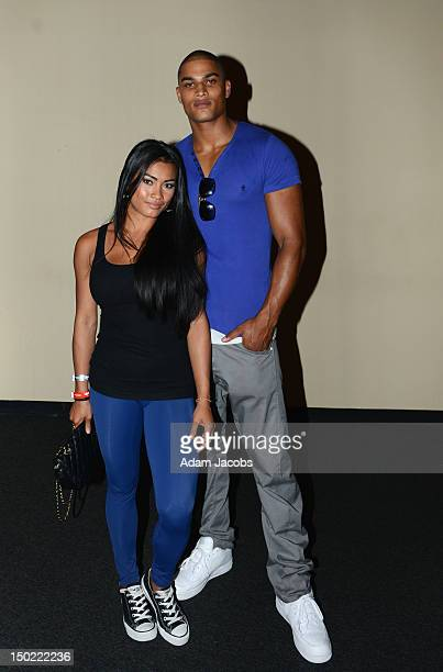 Jewel Santini and America's Next Top Model Judge Rob Evans attend a party to celebrate the end of London 2012 Olympic Games at Jamaica House on...