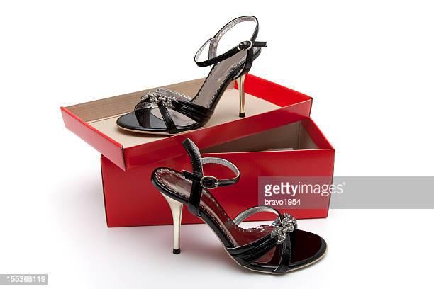 jeweled salto alto sandália - caixa de joias - fotografias e filmes do acervo