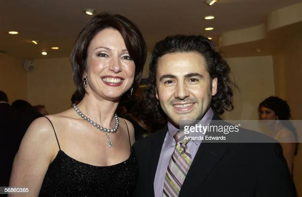 Jeweler Erica Courtney and designer Ali Rahimi attend a Pre-Oscar viewing party at Courtney's showroom on February 15, 2006 in Los Angeles,...