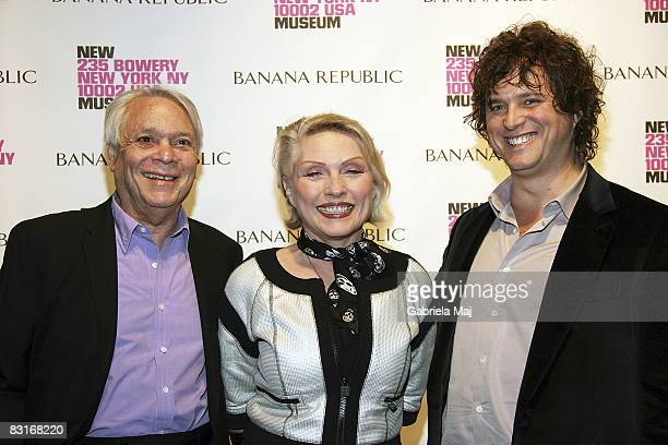 Jeweler John Reinhold Singer Debbie Harry and Tony Just attend the Live Forever Elizabeth Peyton preview at The New Museum on October 7 2008 in New...