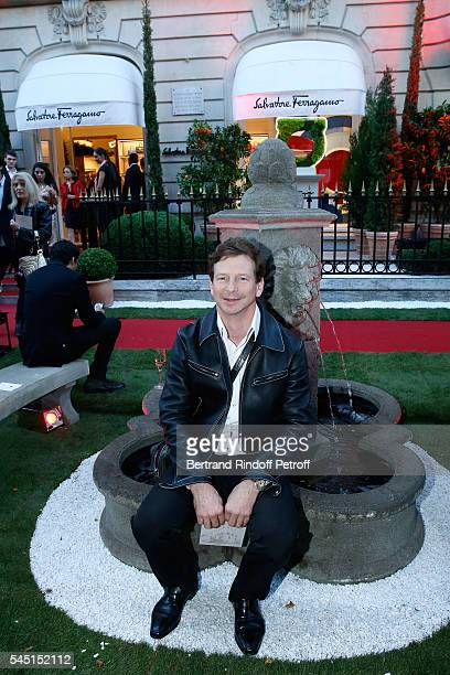 Jeweler Lorenz Baumer attends the Re Opening of Salvatore Ferragamo Boutique at Avenue Montaigne on July 5 2016 in Paris France
