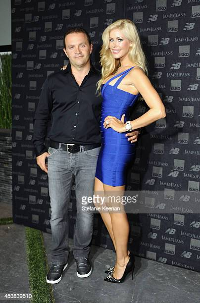 Jeweler Pascal Mouawad and 2014 Playmate of the Year Kennedy Summers attend a dance party with New Balance and James Jeans powered by ISKO at the...