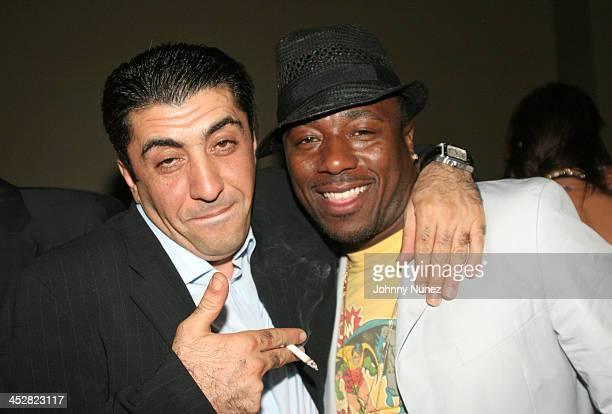 Jeweler Sol Raphael and Roger McKenzie during BJ Coleman's Birthday Party August 24 2005 at AER in New York City New York United States