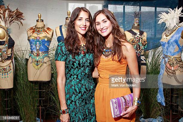 Jewelery designers Danielle Snyder and Jodie Snyder attend the Dannijo spring 2013 presentation during MercedesBenz Fashion Week at The Standard...