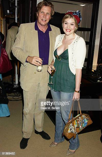 Jeweller Theo Fennell and his daughter Coco attend the Vanity Fair Private Party at Dunhill on September 28 2004 in London