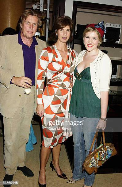 Jeweller Theo Fennell with guest and his daughter Coco attend the Vanity Fair Private Party at Dunhill on September 28 2004 in London