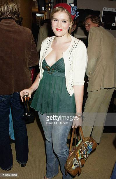 Jeweller Theo Fennell's daughter Coco attends the Vanity Fair Private Party at Dunhill on September 28 2004 in London