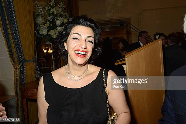 Jewellery designer Fadia Otte attends Sauvons Saint Cloud Auction Ceremony Dinner at Hotel Interallie on March 11 2014 in Paris France Jill...
