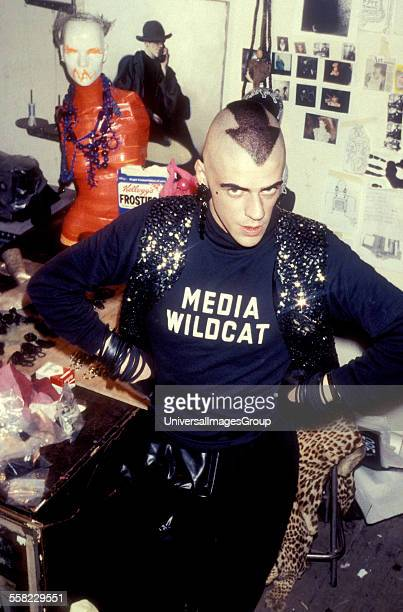 Jewellery designer Judy Blame in his Curtain Road studio Shoreditch London 1984