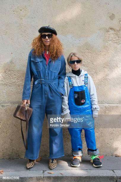 Jewellery designer Natasha Zinko wears a Dior jumpsuit and shoes Celine sunglasses and Natasha Zinko bag and jewellery with Ivan Zinko wears a DIY...