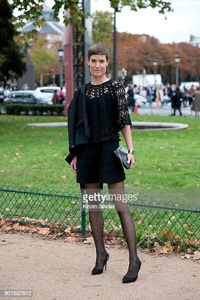 Jewellery Designer Saskia Kiez wears Isabel Marant shoes Carven shorts Kaviar Gauche top Dheinrich jacket Isaac Reina bag Saskia Kiez jewellery on...