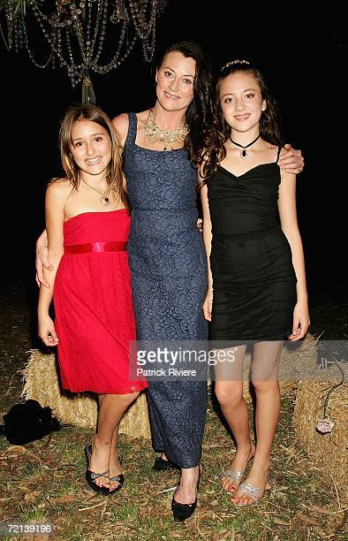Jewellery designer Victoria Spring with her two daughters Rosa and Pearl attend the launch of her new Store on William Street on October 11 2006 in...