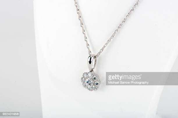 jewellery - diamond necklace stock pictures, royalty-free photos & images