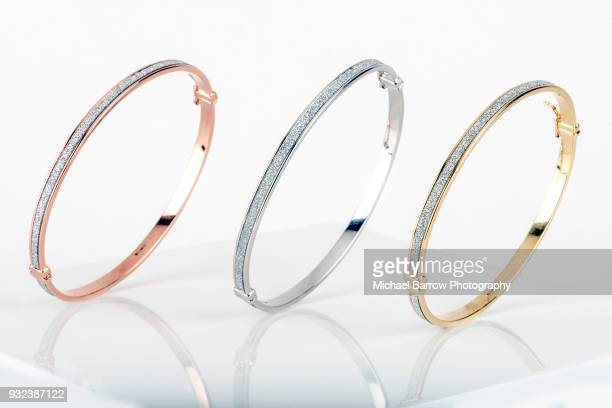jewellery shot in studio - bracelet stock pictures, royalty-free photos & images