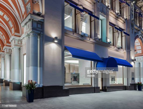 jewellery store exterior in moscow - jeweller stock pictures, royalty-free photos & images