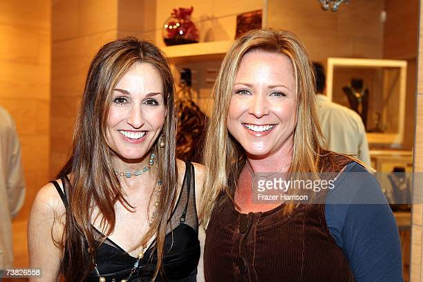 Jewelry and accessory designer Dominique Cohen poses with Actress Karri Turner at the opening of Dominique Cohen Flagship Jewelry Store on Robertson...