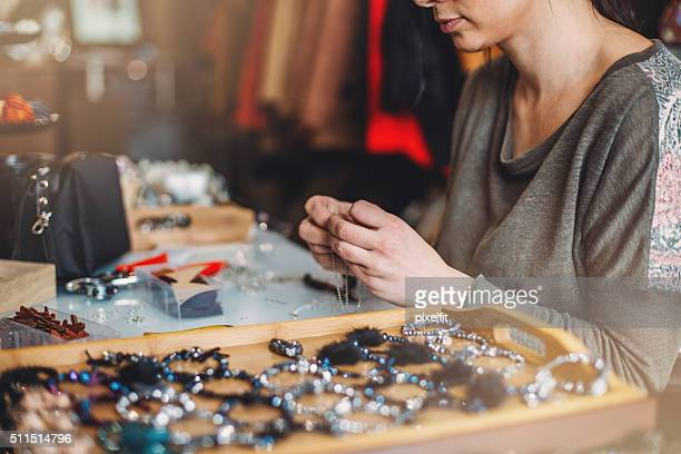 Jewelry artisan working