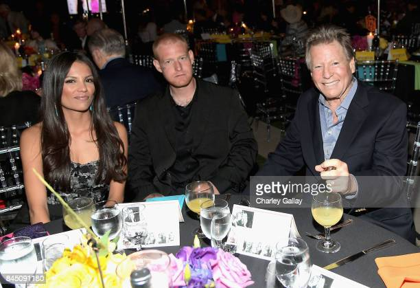 Jewelry artist Echo Matthey Redmond O'Neal and actor Ryan O'Neal at the Farrah Fawcett Foundation's 'TexMex Fiesta' 2017 at Wallis Annenberg Center...