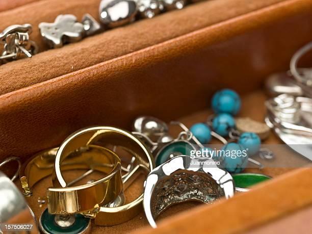 Boîte à bijoux gros plan