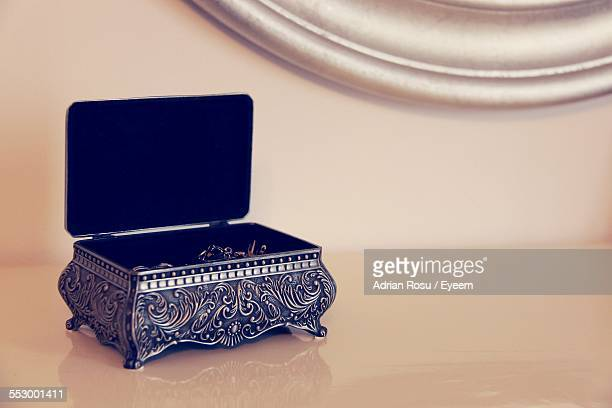 Jewelry Box On Table At Home