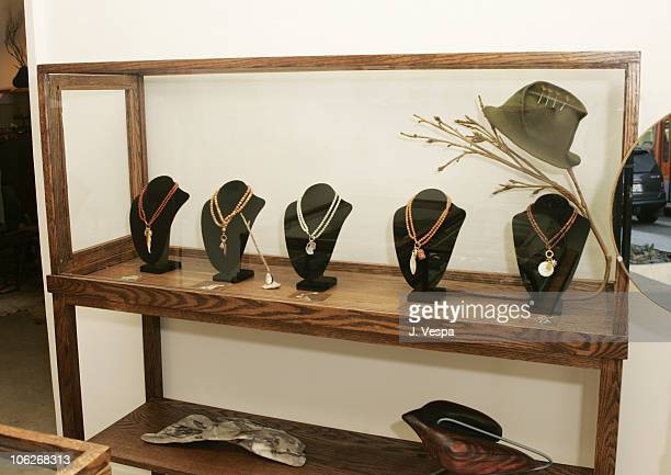 Jewelry by Jodi Guber during Kaviar Kind Party for Jodi Guber and Matt Taylor September 28 2005 at Kaviar Kind in West Hollywood Californina United...