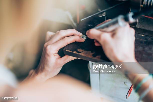 jewelry design making - engraving stock pictures, royalty-free photos & images