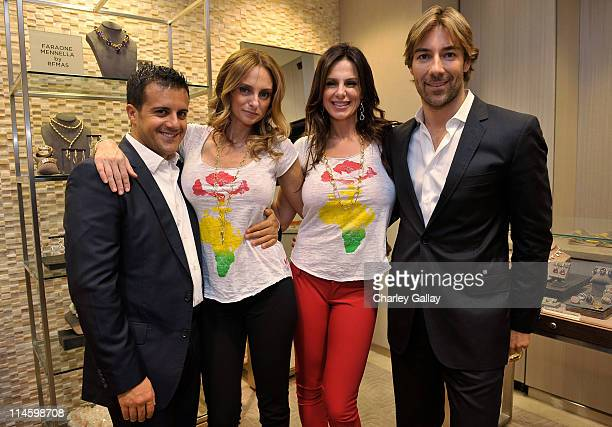 Jewelry designer Amedeo Scognamiglio March To The Top Foundation's Sabrina BaldieriAntolini and Barbara BaldieriMarch and jewelry designer Roberto...