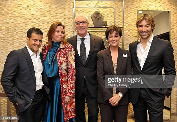 Jewelry designer Amedeo Scognamiglio Sak's Fifth Avenue's Chandler Rashley Larry Bruce and Joan Elledge and jewelry designer Roberto Faraone Mennella...