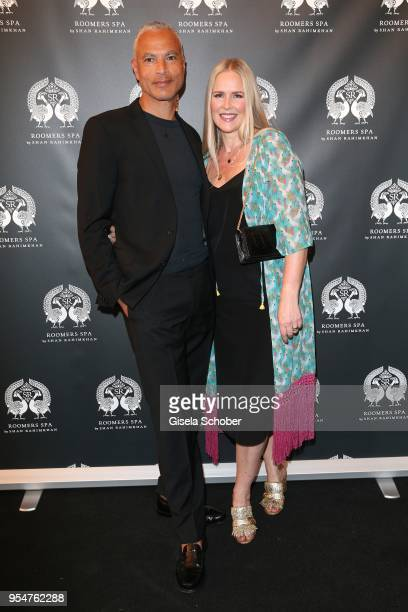 Jewelry designer Constanze Kponton and her husband Thierry Kponton during the Grand Opening of Roomers Spa by Shan Rahimkhan on May 4, 2018 in...