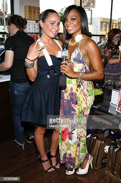 Jewelry designer Danielle Premone and Amber Deylom attend the Amica Style Trunk Show With Fake Bake And The Luxe Beauty Team on July 15 2010 in Los...