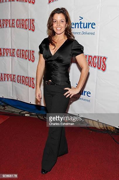 Jewelry designer Donna Distefano attends the 2009 Big Apple Circus opening night gala benefit at Damrosch Park in Lincoln Center on November 6 2009...